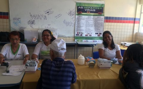 NAPHE realiza testagem em Santo Amaro no dia 23/11/2018.