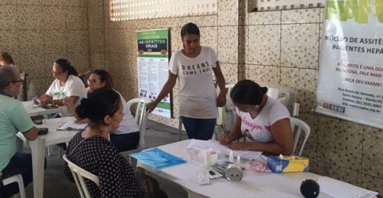 NAPHE realiza testagem no Sindicato dos Rodoviários no dia 13/03/2019.