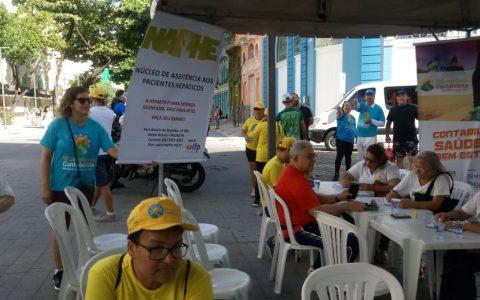 NAPHE realiza testagem em Caminhada Contábil dia 04/05/2019