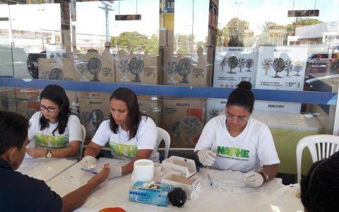 NAPHE realiza testagem no Supermercado Assaí, dia 19/07/2019