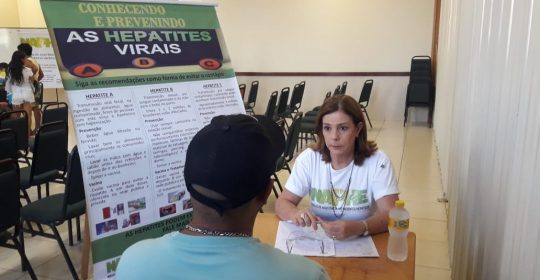 NAPHE realiza testagem rápida para as Hepatites na Igreja dos Mórmons