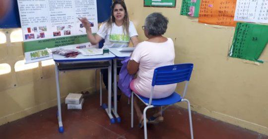 NAPHE realiza testagem rápida para as Hepatites na Escola Municipal Paroquial Cristo Rei